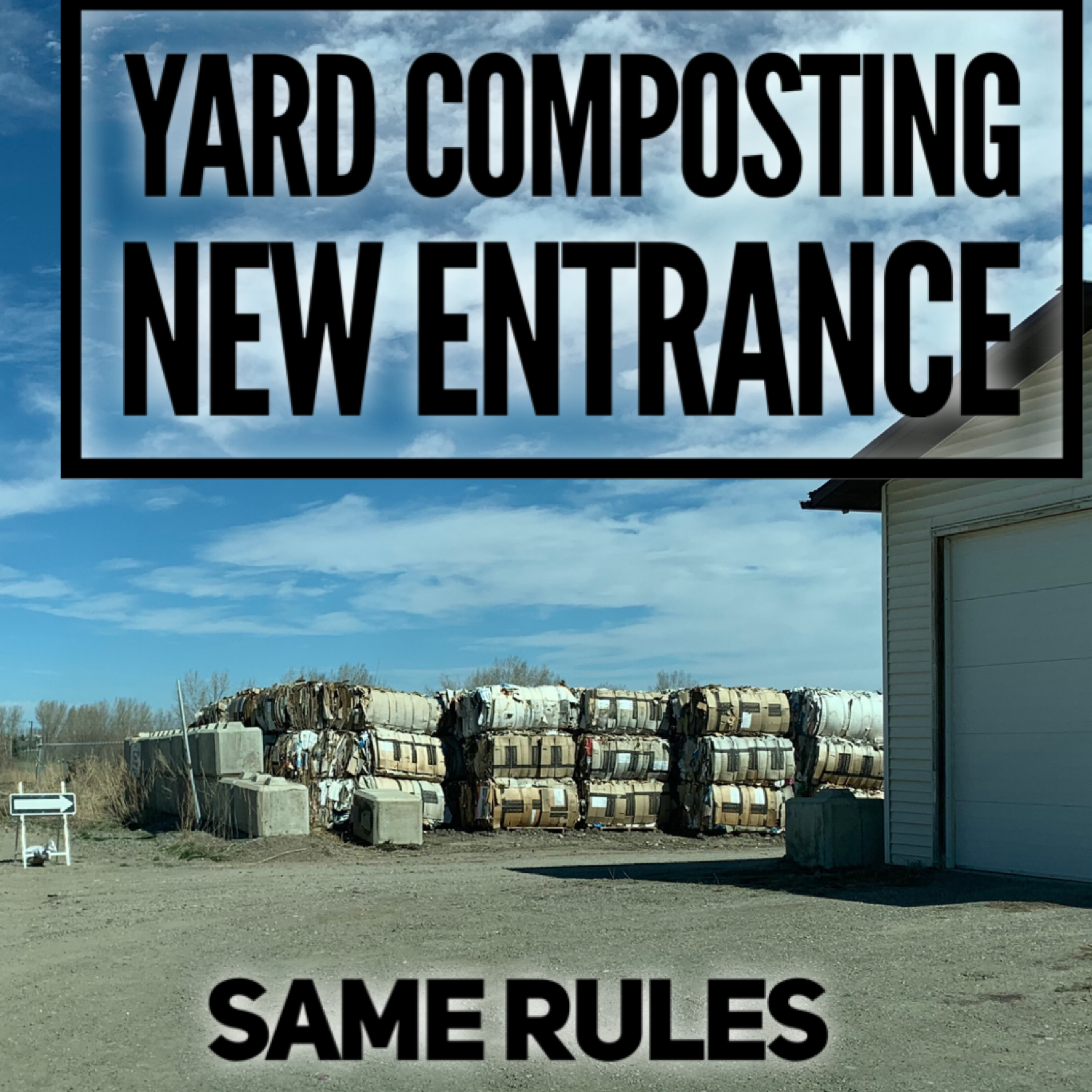 yard composting entrance text